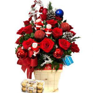 christmas flower chocolate