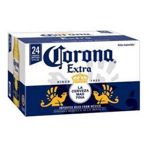 corona beer 24 cans box