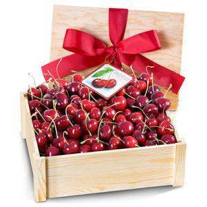 fresh cherry basket