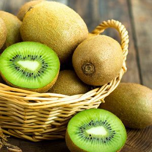 fresh green kiwi basket