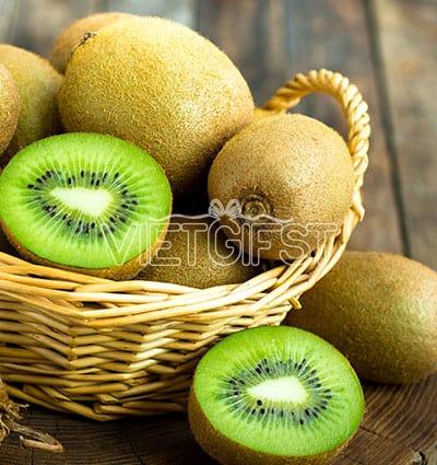 fresh green kiwi basket