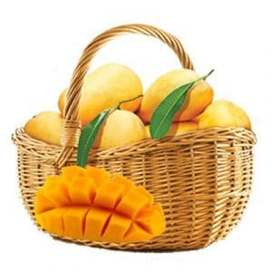 fresh mango basket
