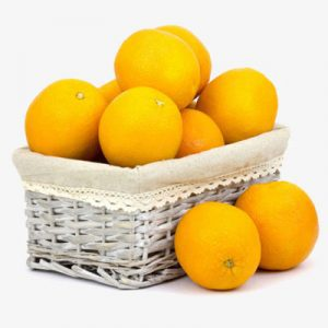 fresh orange basket