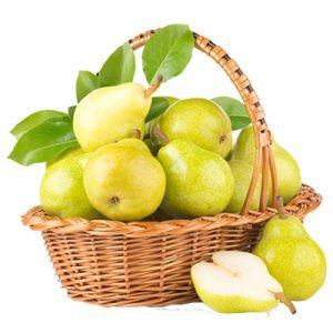 fresh pears basket