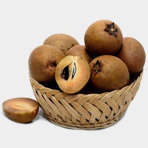 fresh sapodilla basket