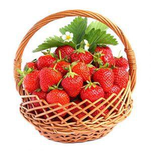fresh strawberry basket