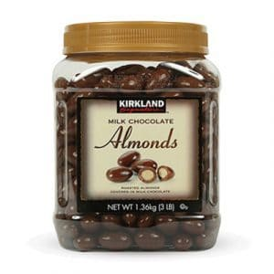 kirkland milk chocolate almonds bottle
