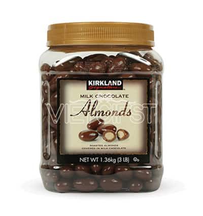 kirkland milk chocolate almonds bottle