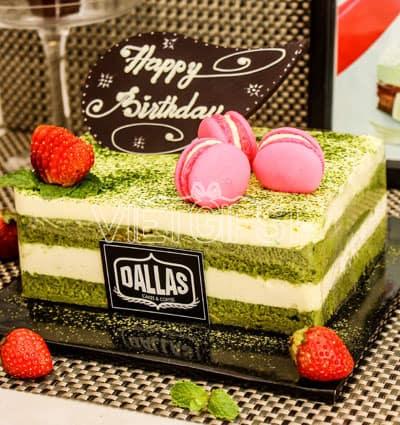 matcha dallas cake