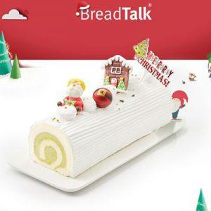 pistachio yule log breadtalk xmas cake