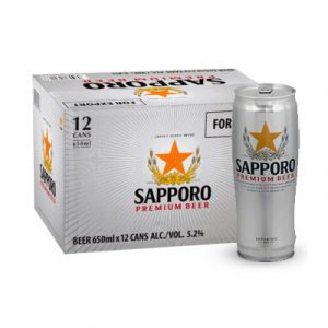 sapporo beer 12 cans