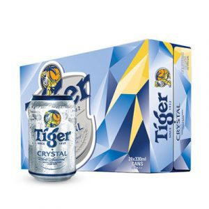tiger crystal beer 24 cans