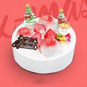 white xmas baskin robbins cake