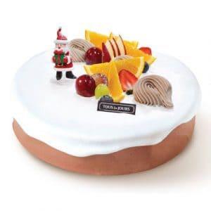 xmas choco fresh 5 cake