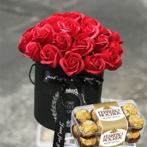chocolate waxed roses 02