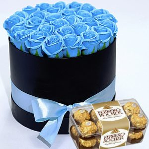 chocolate waxed roses 03
