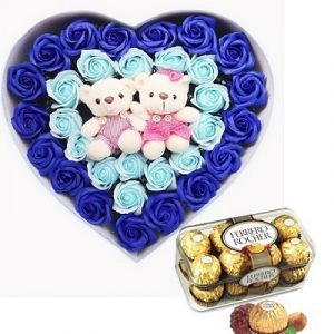 chocolate waxed roses bears 2