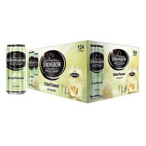strongbow apple ciders elderflower cans