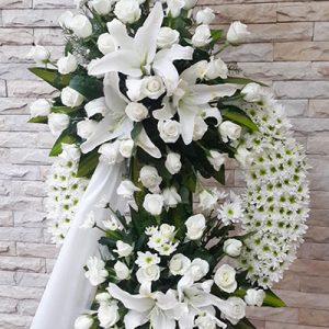 sympathy flower standing spray 10