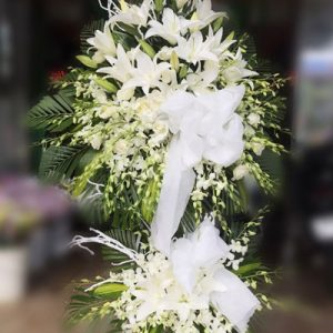 sympathy flower standing spray 15