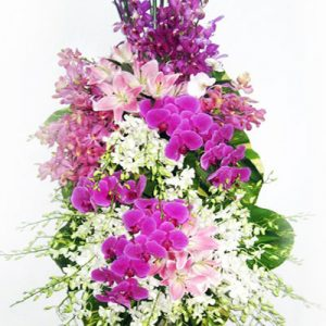 sympathy flower standing spray 25
