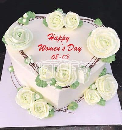 Remarkable Cakes Women Day 1 Send Cakes To Vietnam Delivery Cake In Vietnam Funny Birthday Cards Online Fluifree Goldxyz