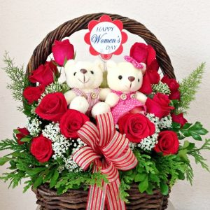 special flowers and bears love
