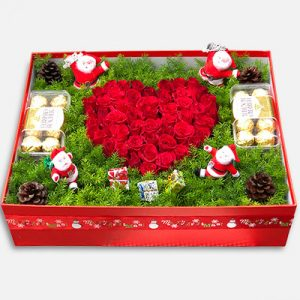 Special Christmas Box Flowers