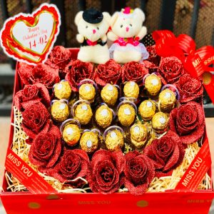 Special Artificial Roses And Chocolate 02