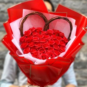 Special Waxed Roses Valentine 02